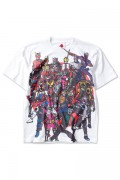 PUNK DRUNKERS [PDSx仮面ライダー]平成ライダー集合TEE WHITE