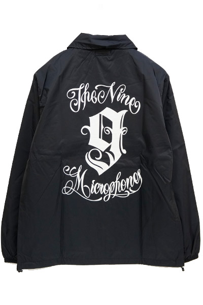 NineMicrophones COACH JACKET-9MC Crew- BLACK/WHITE