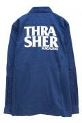 THRASHER TH5092 ANTI-LOGO SHIRT BLUE