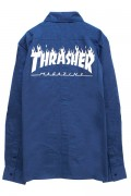THRASHER TH5093 FRAME-LOGO SHIRT BLUE