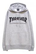 THRASHER TH8501 MAG LOGO HOODIE BK/GRY