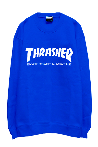 THRASHER TH8401 MAG LOGO SWEAT ROYAL/WHITE