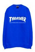 THRASHER TH8401 MAG LOGO SWEAT ROYAL/WHITE