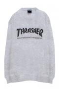 THRASHER TH8401 MAG LOGO SWEAT GRAY/BLACK