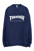 THRASHER TH8401 MAG LOGO SWEAT NAVY/WHITE