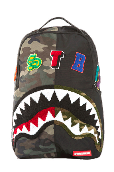 SPRAY GROUND CAMO DESTROY SHARK BACKPACK