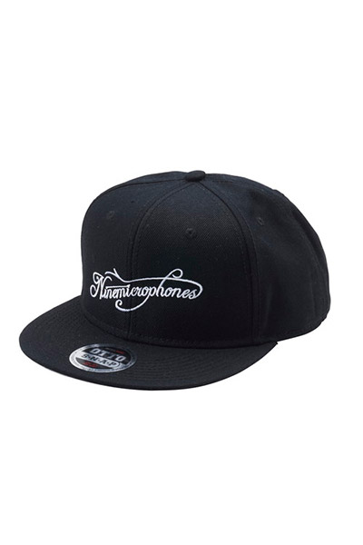NineMicrophones SNAP BACK CAP -Comrade- BLACK