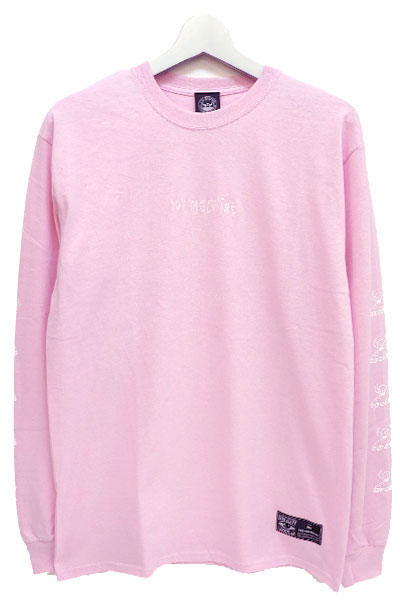 TOY MACHINE TMP18LT2 colintotymachine logo ls PINK