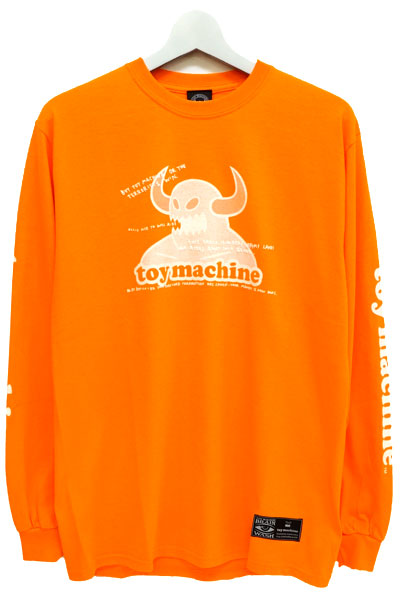 TOY MACHINE TMP18LT3 dot toymonster ls ORANGE