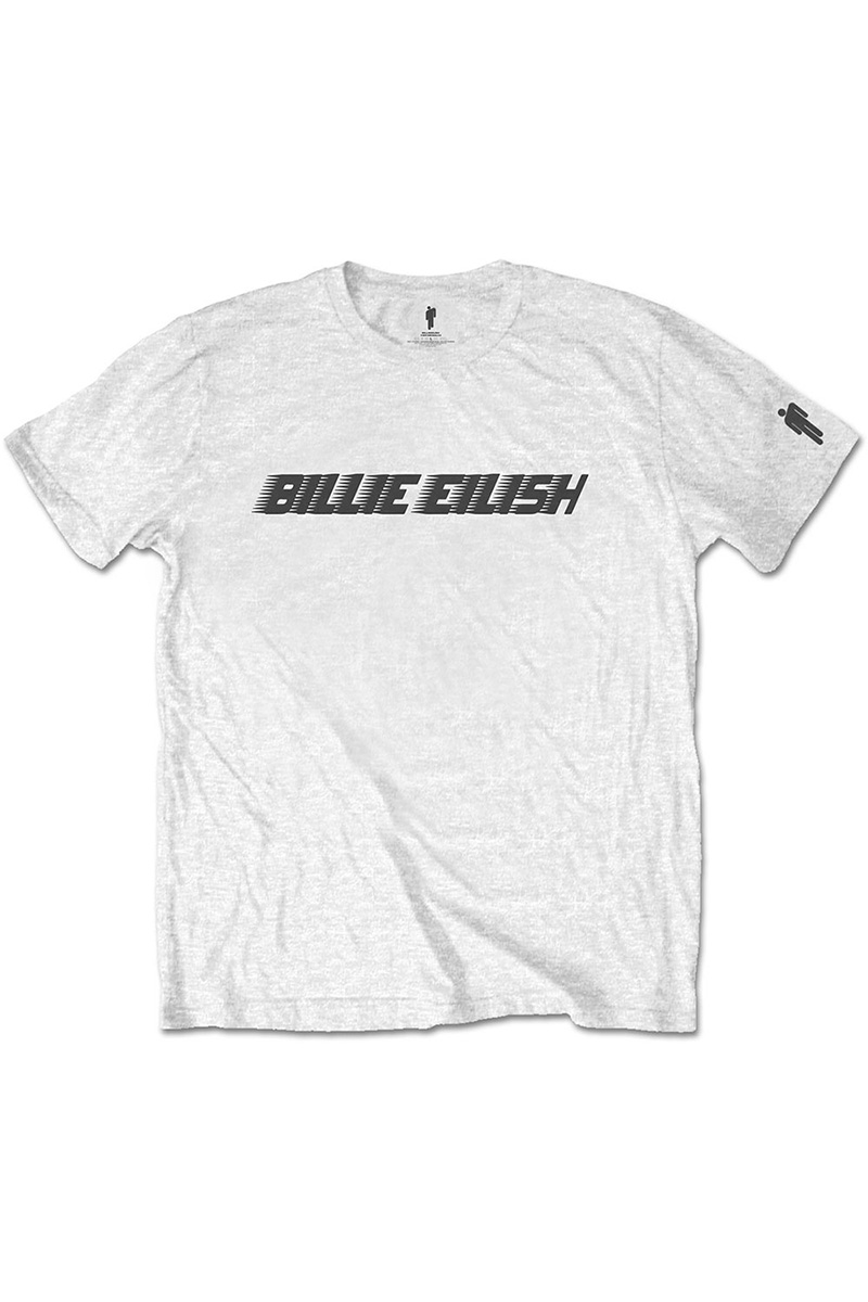 BILLIE EILISH UNISEX TEE BLACK RACER LOGO (SLEEVE PRINT)
