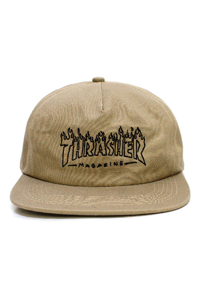 THRASHER 3131377 WITCH SNAPBACK TAN
