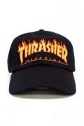 THRASHER 3131363 FLAME OLD TIMER HAT BLACK