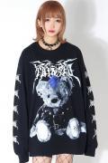 TRAVAS TOKYO Metal bear L/S Tee BLACK