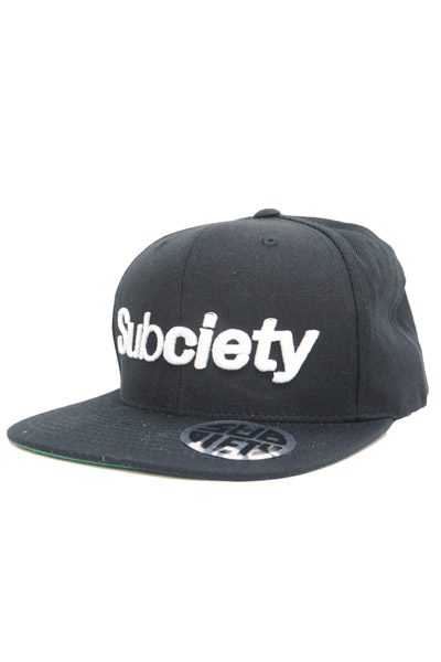 Subciety (サブサエティ) SNAP BACK CAP-THE BASE- BLACK