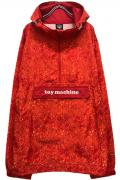 TOY MACHINE TMP20JK12 PATTERN PRINT ANORAK JACKET RED