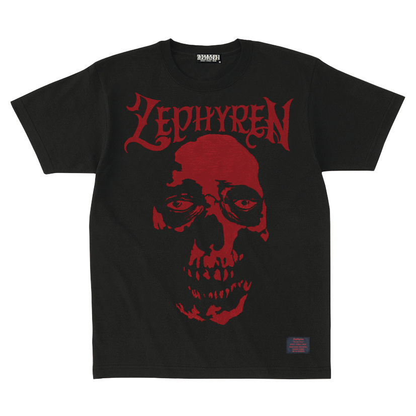 【予約商品】Zephyren(ゼファレン)S/S TEE - SKULL HEAD - BLACK / RED