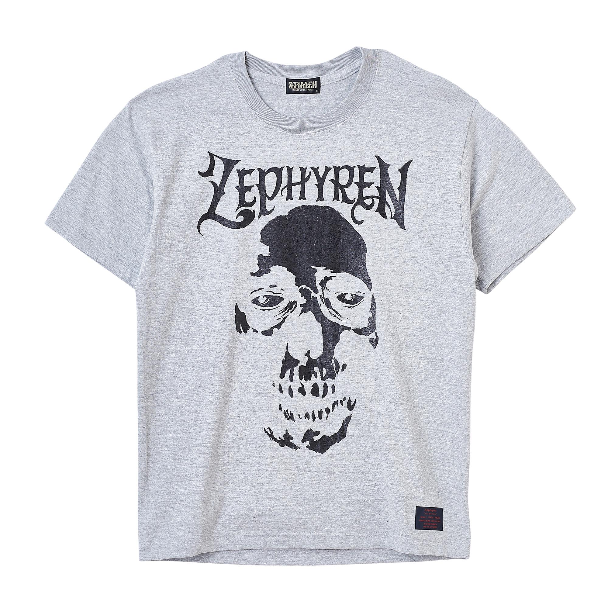 【予約商品】Zephyren(ゼファレン)S/S TEE - SKULL HEAD - GRAY