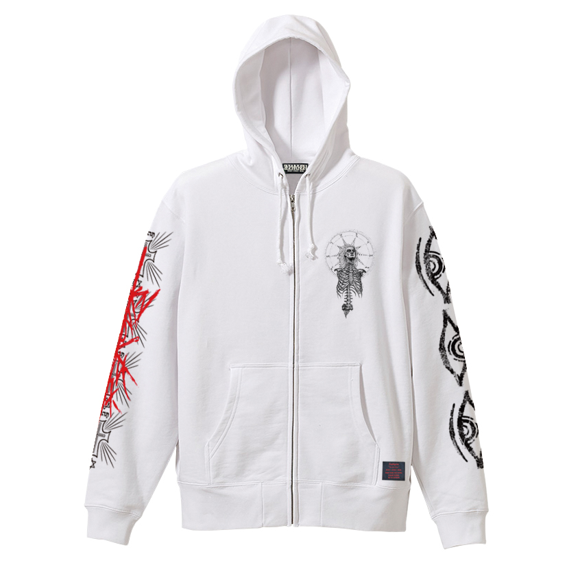 Zephyren(ゼファレン)ZIP PARKA - As above,So below - WHITE