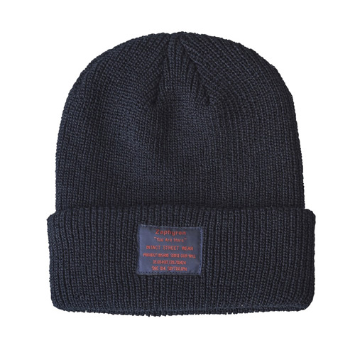【予約商品】Zephyren(ゼファレン)KNIT CABLE BEANIE - You Are Here - BLACK