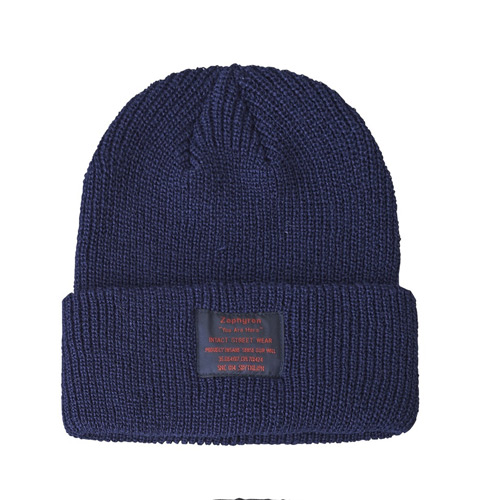 【予約商品】Zephyren(ゼファレン)KNIT CABLE BEANIE - You Are Here - NAVY
