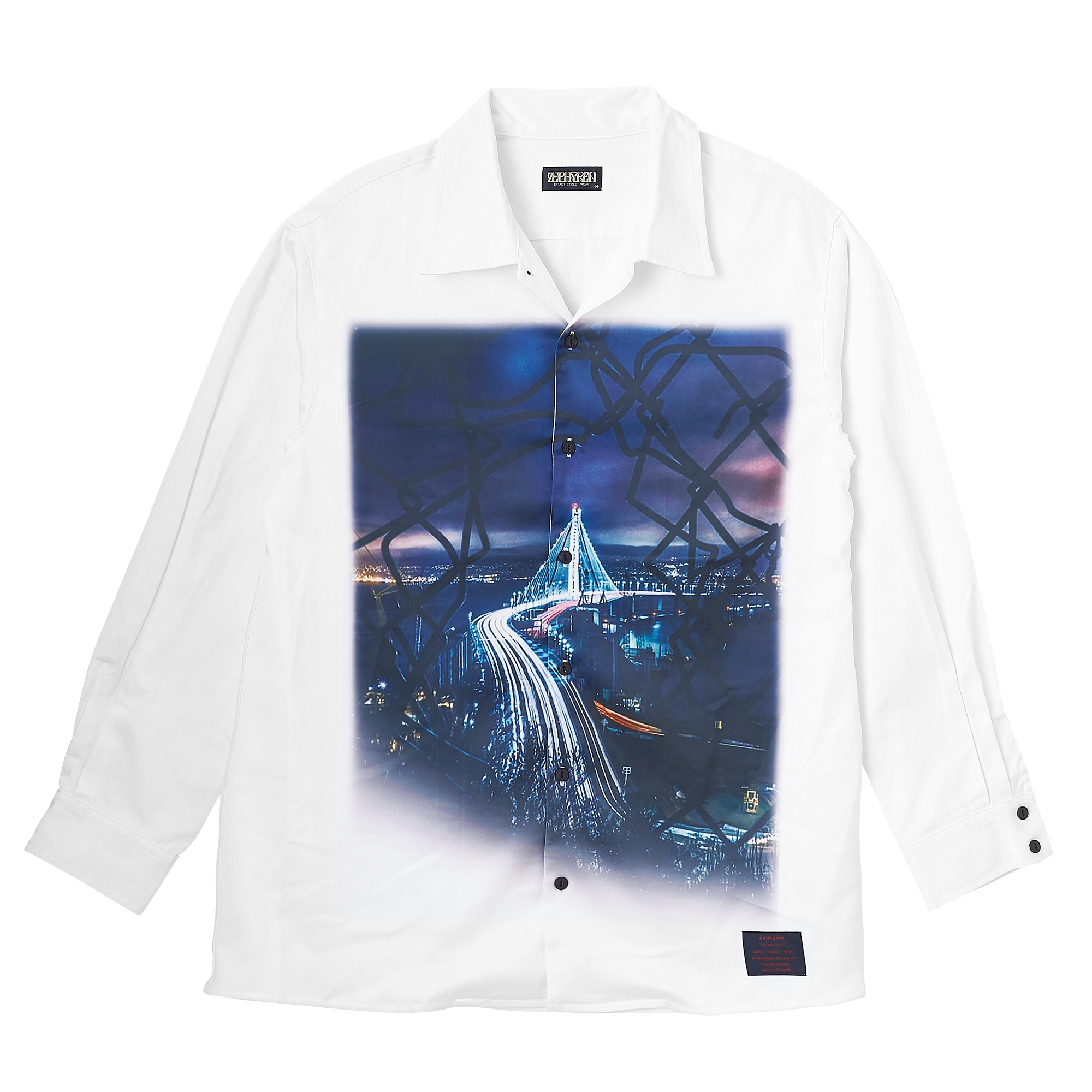 Zephyren(ゼファレン)PHOTO PRINT SHIRT L/S WHITE / aurea mediocritas