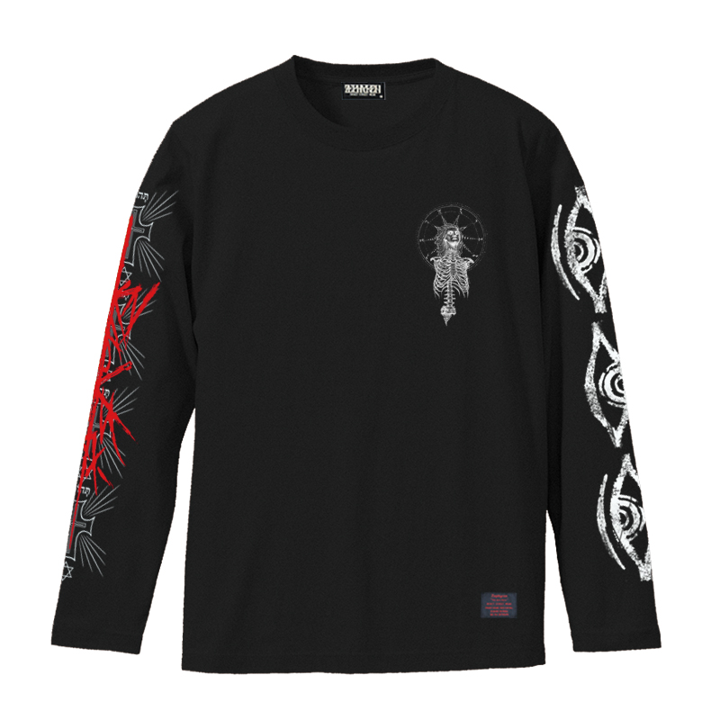 Zephyren(ゼファレン)L/S TEE - As above,So below - BLACK