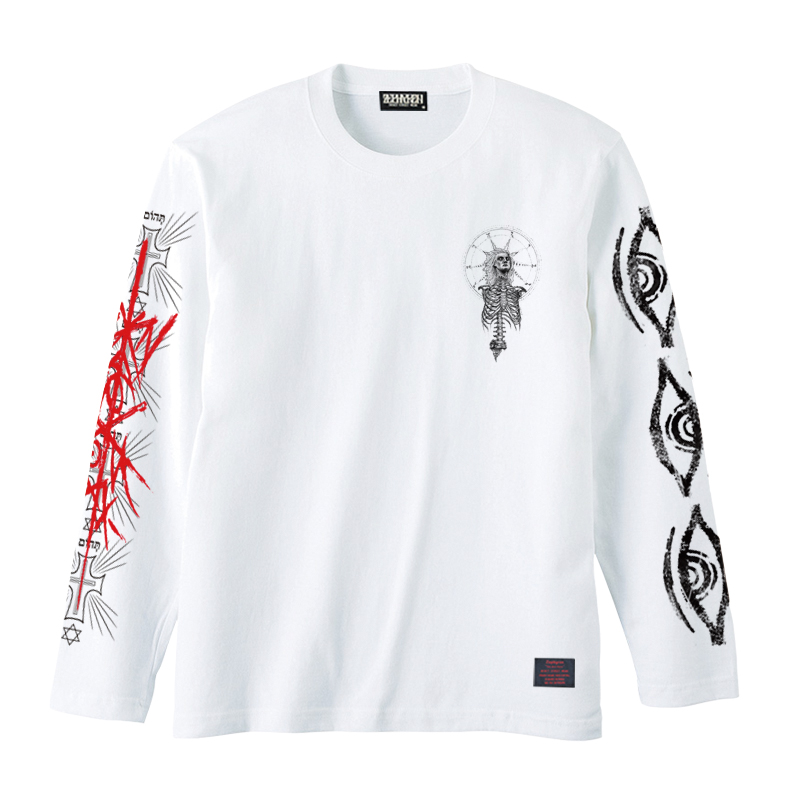 Zephyren(ゼファレン)L/S TEE - As above,So below - WHITE