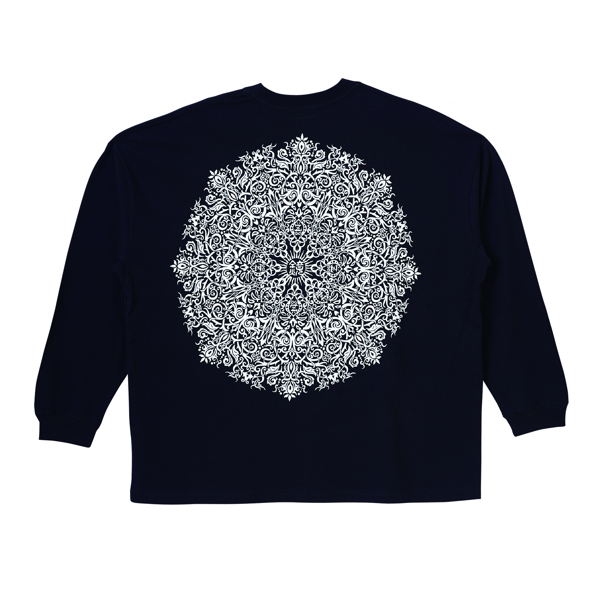 Zephyren(ゼファレン)BIG L/S TEE - VISIONARY / Kaleidoscope - BLACK
