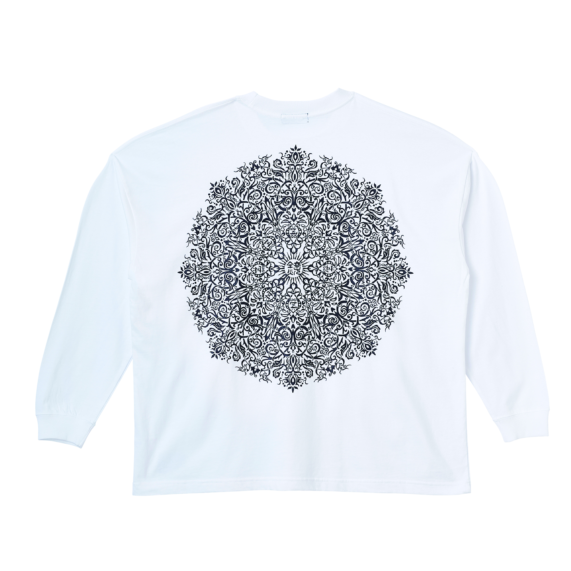 Zephyren(ゼファレン)BIG L/S TEE - VISIONARY / Kaleidoscope - WHITE