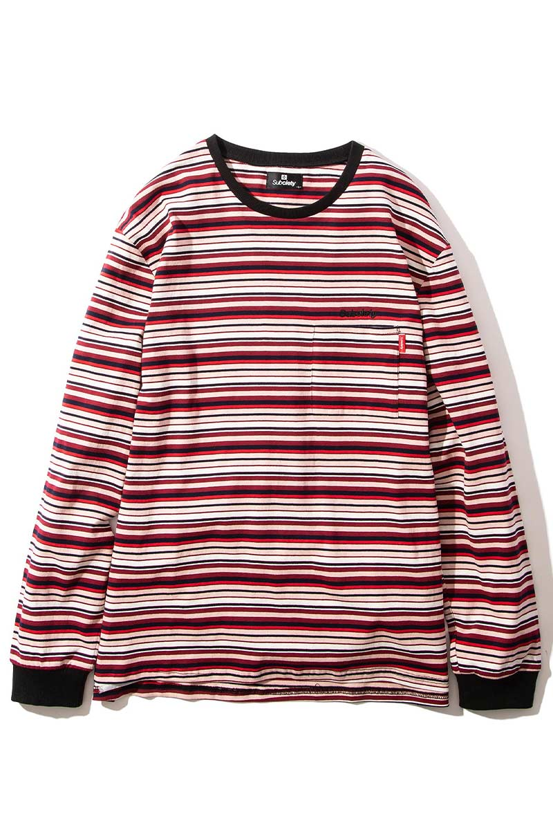 Subciety MULTI BORDER L/S PINK