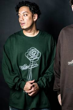 GoneR GR26LS001 Rough Rose L/S T-Shirts Forest