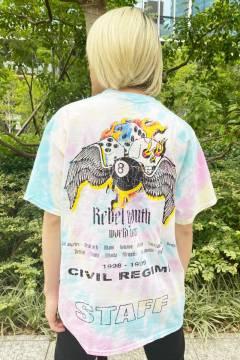 Civil Regime 20CV-SP07T 8 BALL TEE PASTEL SPIRAL