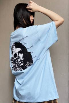 【予約商品】 GoneR Ernesto Skull T-Shirts Light Blue