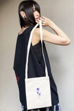 【予約商品】 GoneR Logo Mini Sacoche White(Black/Purple)