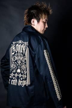 【予約商品】GoneR GR26OT001 Mexican Design Drivers jacket Dark Navy