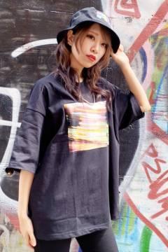 FILA FFM9848 ユニセックス クルーネックシャツ BLACK