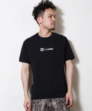 Subciety EMBROIDERY THE BASE TEE BLACK