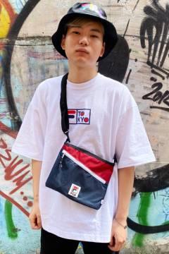 FILA FFM9841 ユニセックス クルーネックシャツ WHITE
