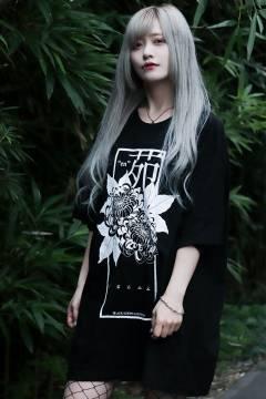 【予約商品】アマツカミ 花苑(白)/genuinely T-shirts