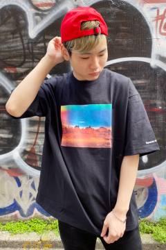 FILA FFM9847 ユニセックス クルーネックシャツ BLACK
