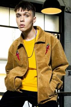 TOY MACHINE PEPPER SECT CORDUROY JACKET - BEIGE