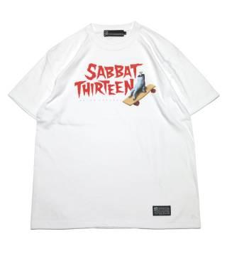 SABBAT13 SKATE HAND T WHITE