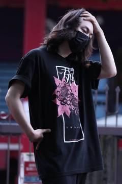 【予約商品】アマツカミ 花苑(赤)/Integrity T-shirts