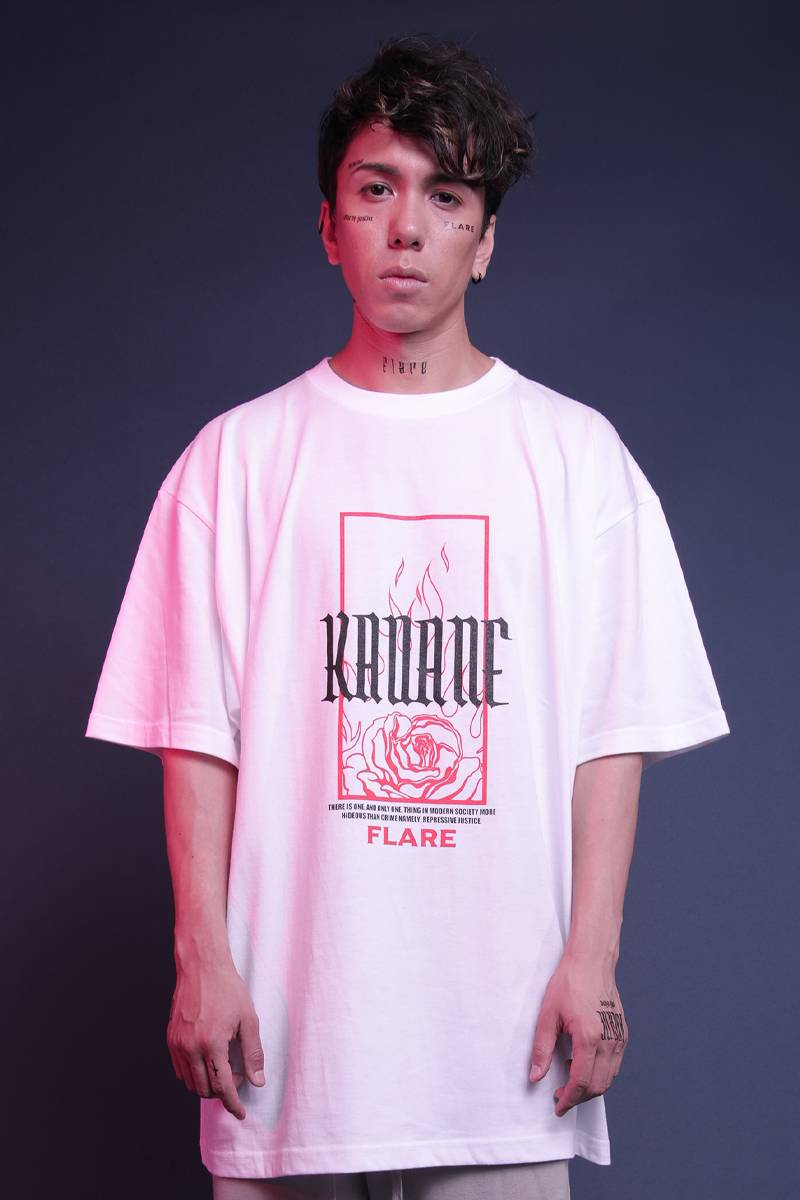 "【予約商品】KAVANE Clothing ""HOPE""OVERSIZE CUTSEW(Wht)"