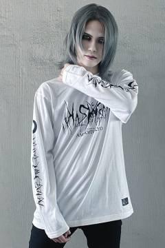 アマツカミ 死文字 Long T-Shirt White