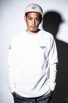 【予約商品】GoneR -La Neta- GRL02LS002 Embroidery Waffle L/S T-Shirts Vanilla White