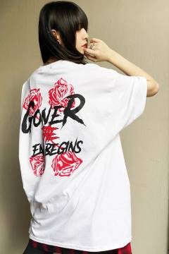 【予約商品】 GoneR Rose Logo T-Shirts White