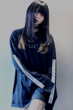 アマツカミ 闇/Dark Long T-Shirts Black
