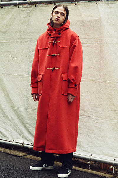 【予約商品】NineMicrophones DUFFEL COAT RED