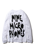 NineMicrophones FAINT L/S WHITE